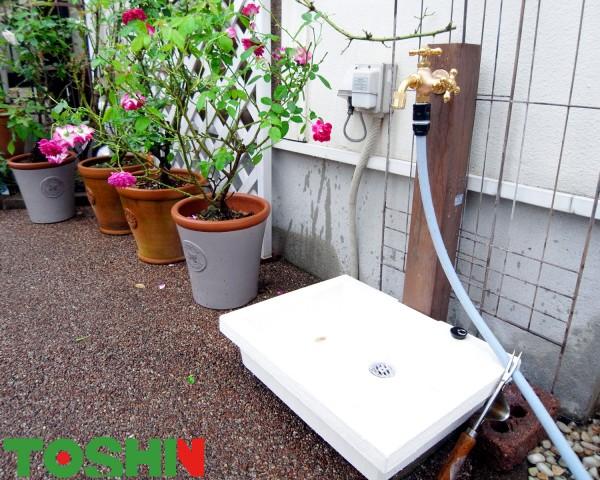 相模原市の立水栓交換をともなう外構工事
