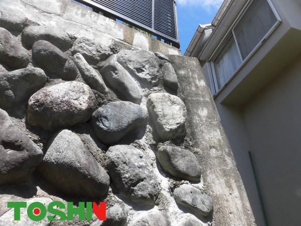 町田市の石垣補修をともなう外構工事