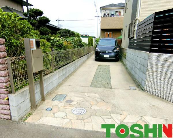 門柱の移設とお庭を目隠しで快適に 相模原市