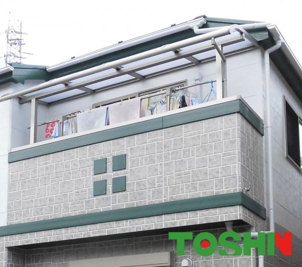 相模原市のテラス屋根スピーネ施工の外構工事