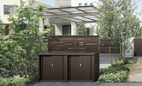 相模原市の外構工事の【LIXIL・リクシル】+Gシリーズ ガーデンストレージ F-A1タイプ