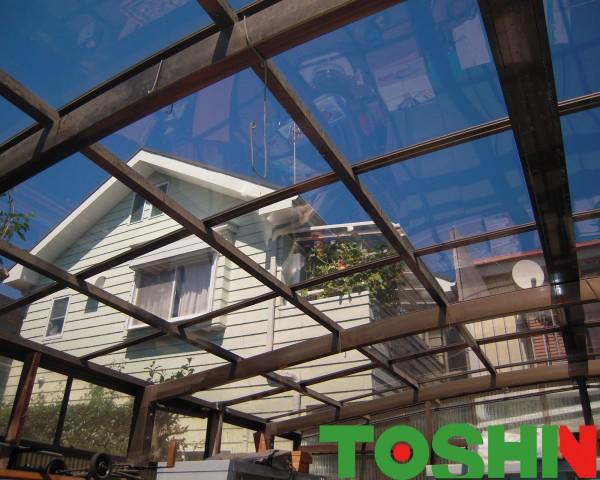 相模原市のカーポート屋根修理をともなうエクステリア工事