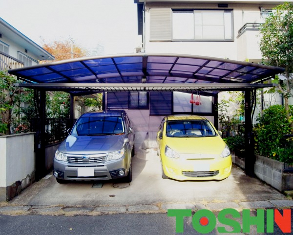 町田市のカーポート施工の外構工事事例