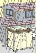 物置設置の注意点(雨漏り対策)