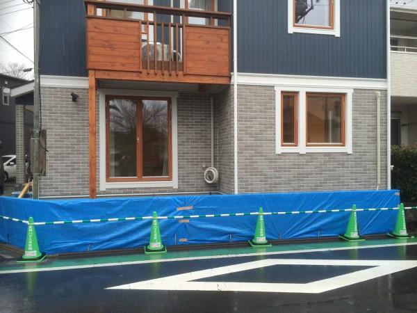 20150122スウェーデンハウスの外構