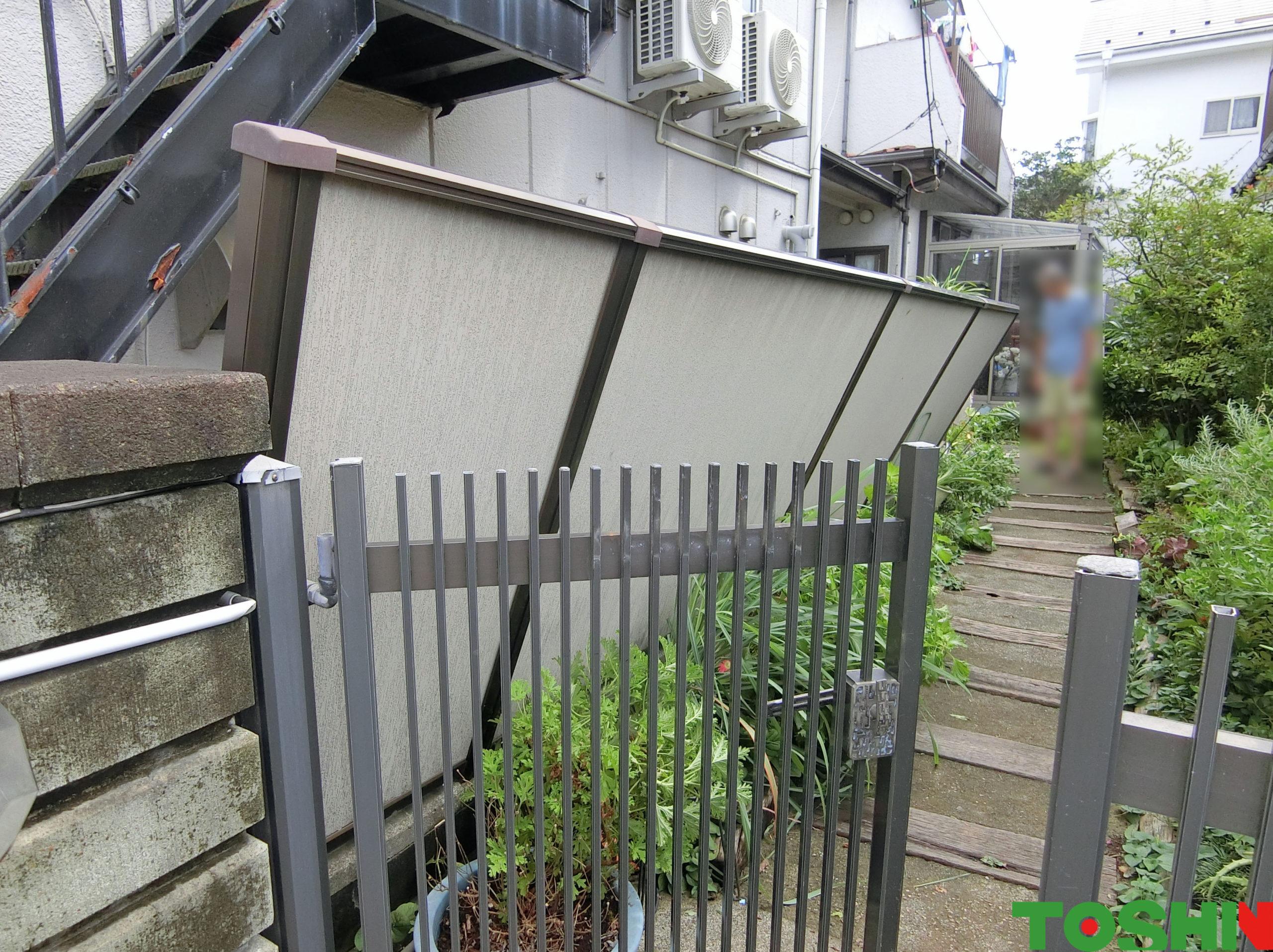 フェンス修理 施工前