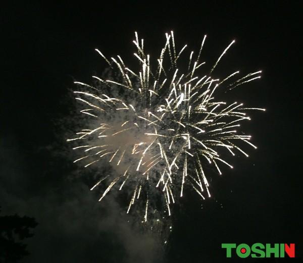 地元のお祭りで花火