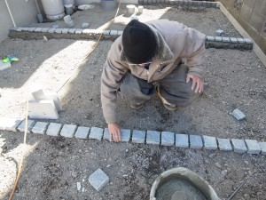 住友林業の外構工事施工中