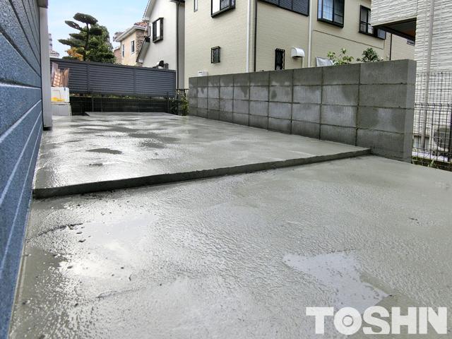 ガーデンルーム工事のコンクリート打設 厚木市 O様邸