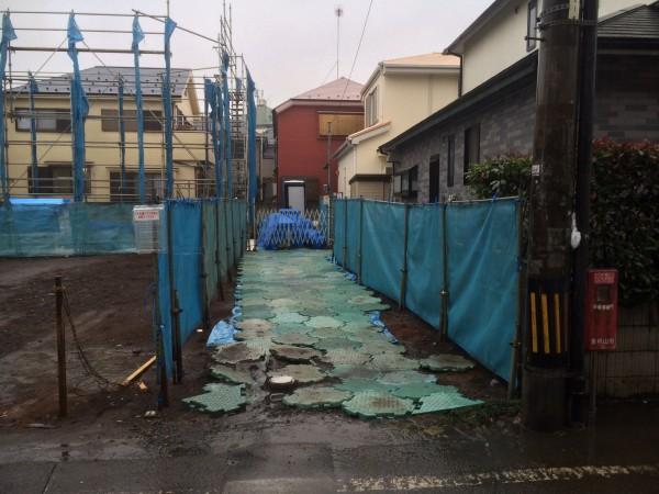 三井ホームの外構工事現調