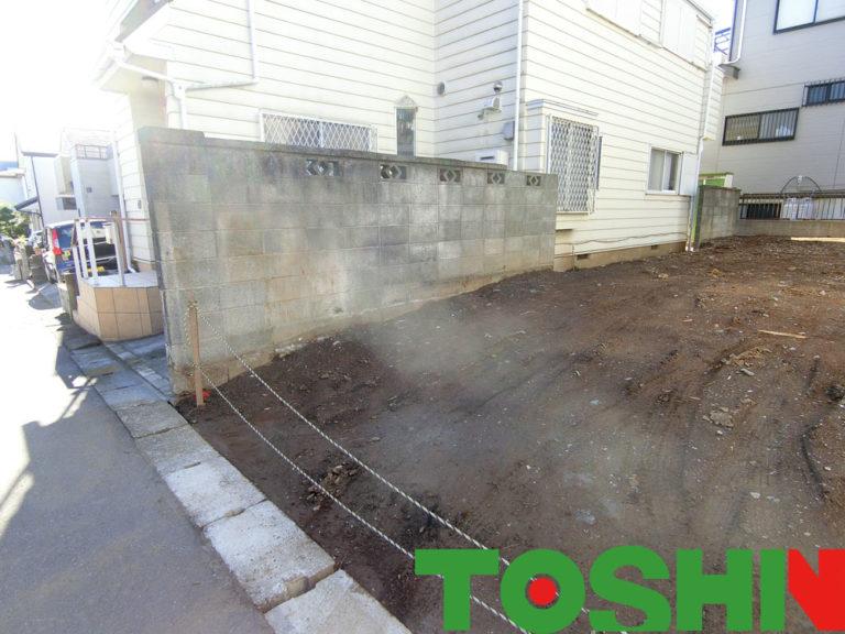 危険なブロック塀を改良