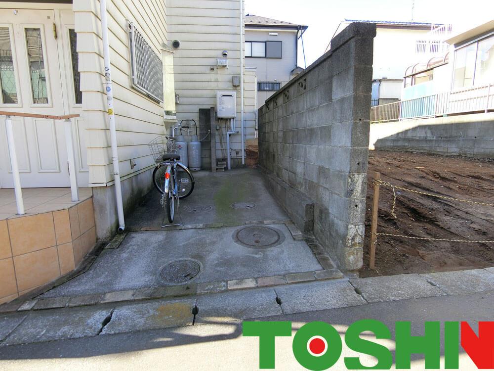 危険なブロック塀を改良工事