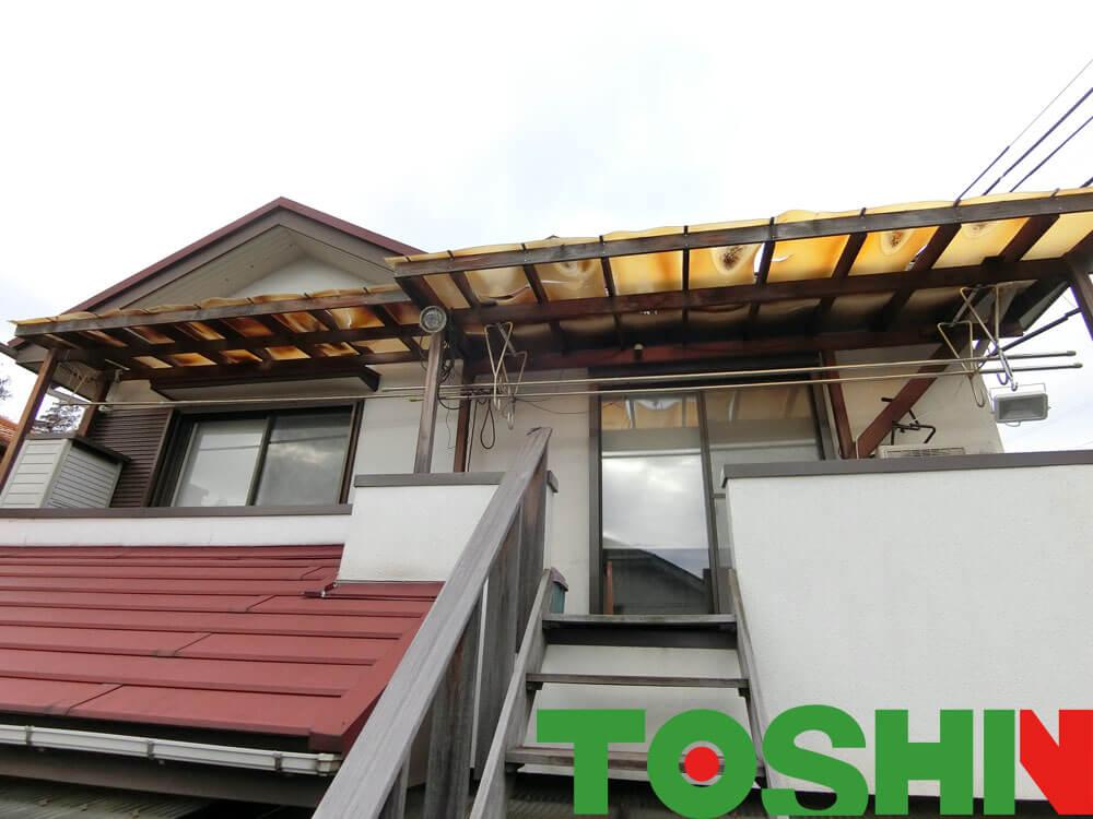テラス屋根の屋根材交換