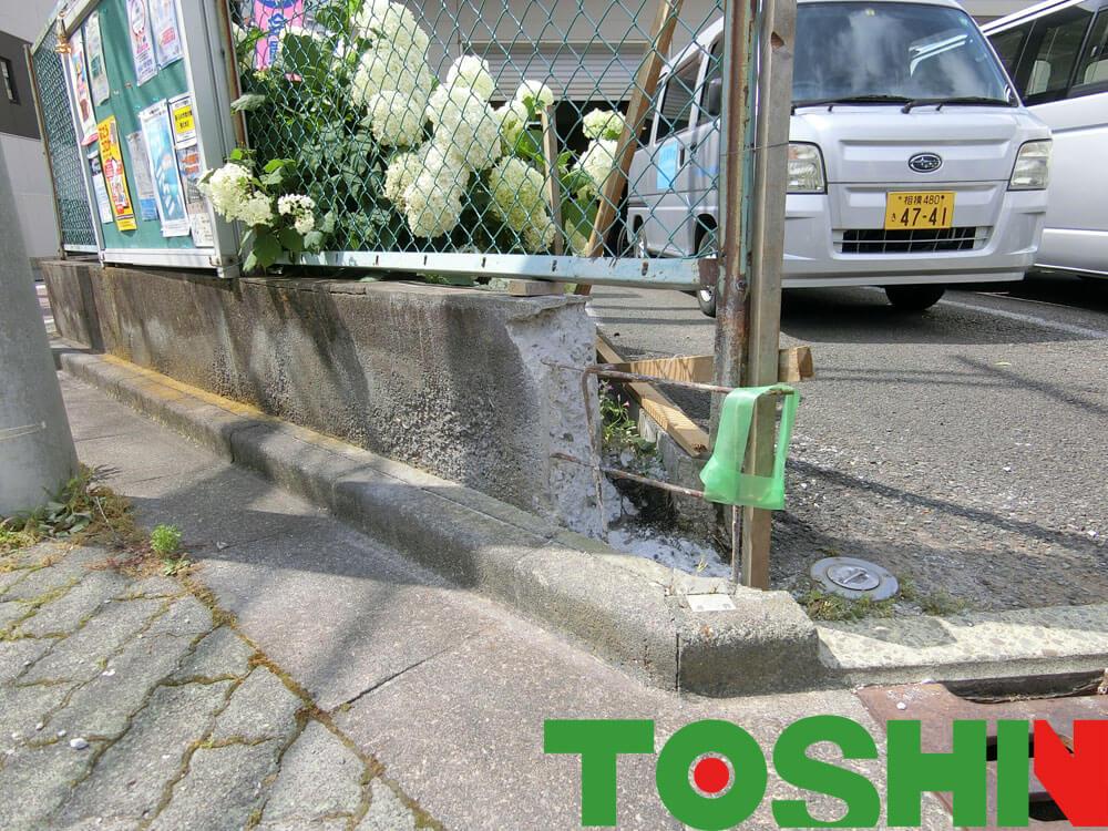 鉄筋コンクリート壁の修復