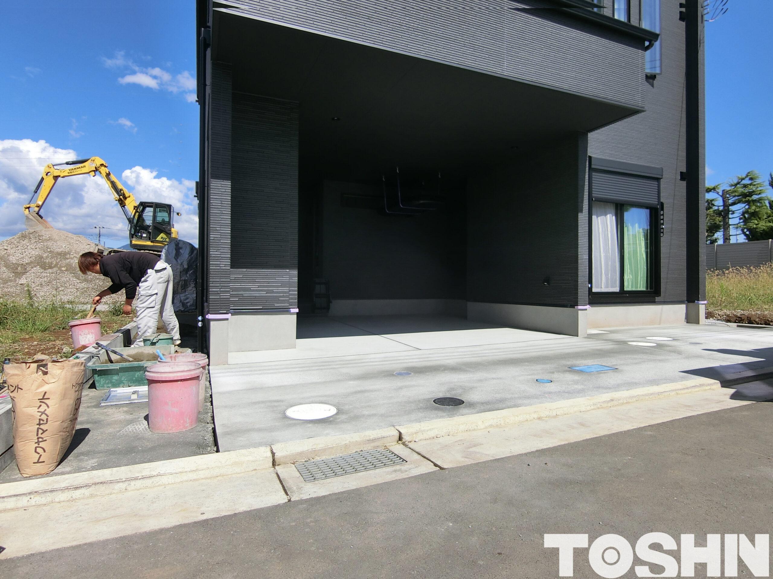 駐車場コンクリート打設工事 施工後 小田原市