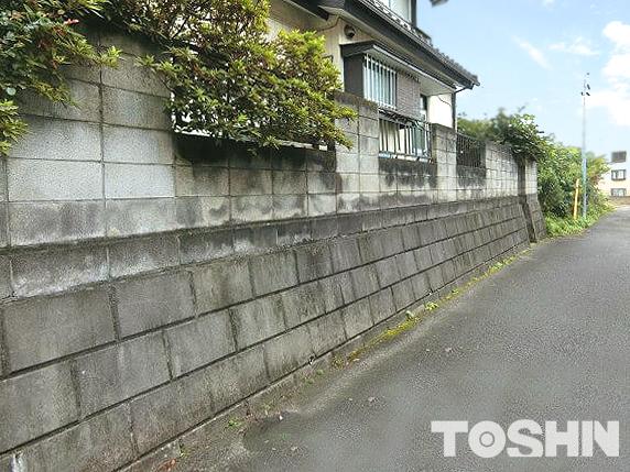 リフォーム外構 古いブロック塀 低くして倒壊防止 座間市 S様邸