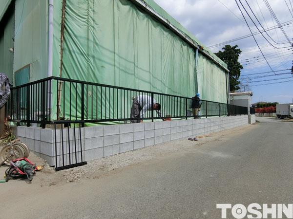 ブロック塀の建直し